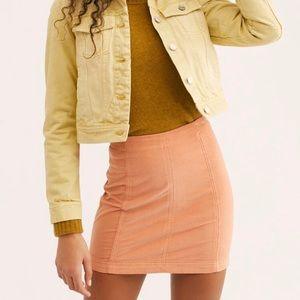 Free People Modern Femme Corduroy Mini Skirt Sz 8